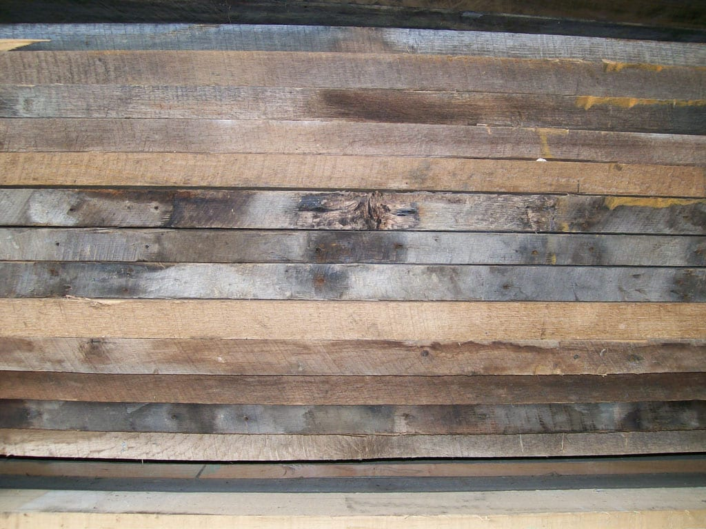 Wormy chestnut lumber photo gallery for Reclaimed wood decking